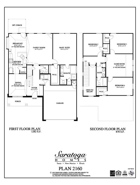 saratoga homes floor plans el paso tx gurus floor