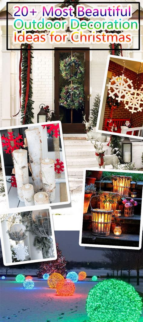 How To Decorate Front Yard - 20 most beautiful outdoor decoration ideas for christmas