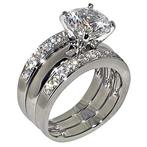 3piece ring 3 47 ct cubic zirconia cz solitaire bridal