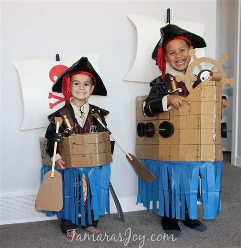 cardboard boat costume easy kids pirate costume made from cardboard tamara s joy
