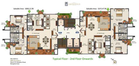 grandeur 8 floor plan hm grandeur 3 bedroom apartments frazer town bangalore