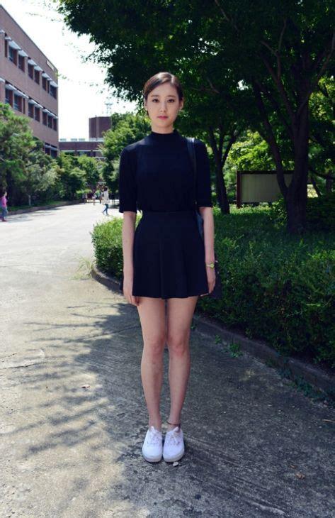 Versase Pink Black Korea Shantcoll half sleeve mock turtleneck and a skirt with light