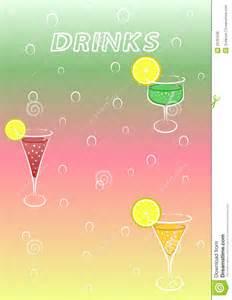 drinks menu royalty free stock photos image 29761638