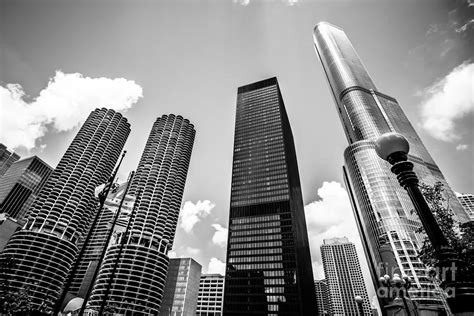 skyscraper wallpaper black and white black and white photo of chicago skyscrapers photograph by