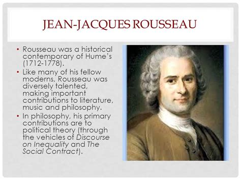 Why The Social Contract Rousseau rousseau s vision of the human ppt