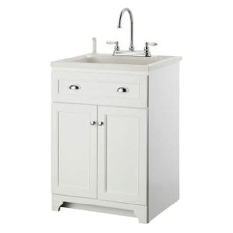 foremost keats 24 in laundry vanity in white and abs sink