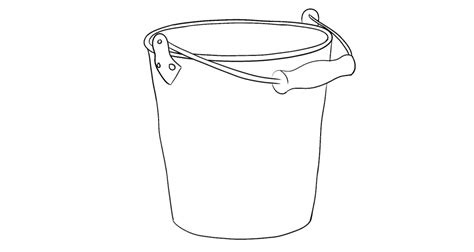 bucket in coloring pages