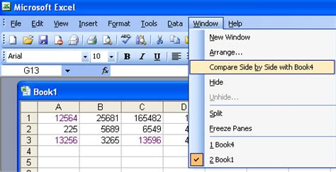Excel Document For Comparing Mba Programs by Compare Workbooks Side By Side Microsoft Office Support