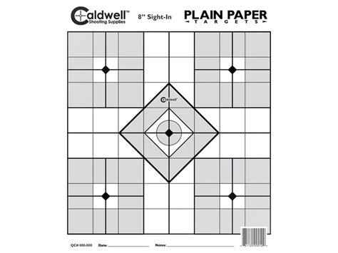 free printable moa targets caldwell plain paper targets 8 sight in package of 25