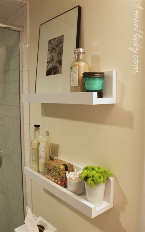 White Floating Shelves Bathroom Pictures To Pin On Bathroom White Shelves