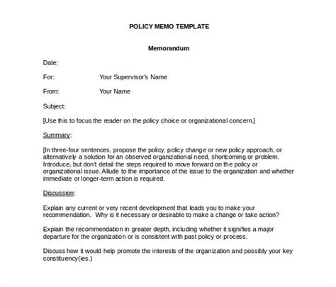 business memo outline formal memorandum template 8 free word excel pdf