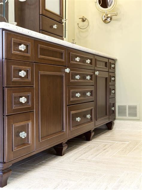knobs for bathroom vanity double vanity in rich brown color hgtv