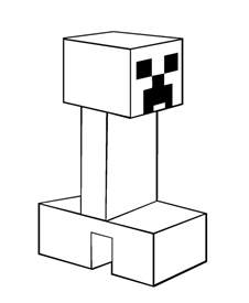 minecraft creeper coloring page free coloring pages of creeper