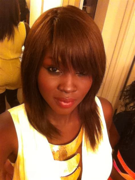milkyway hair bangs 10 in straight milky way color 4 quick weave style