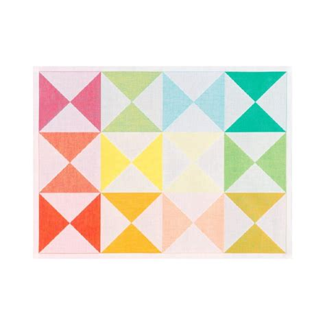 linge de table design sets de table design moderne original multicolore