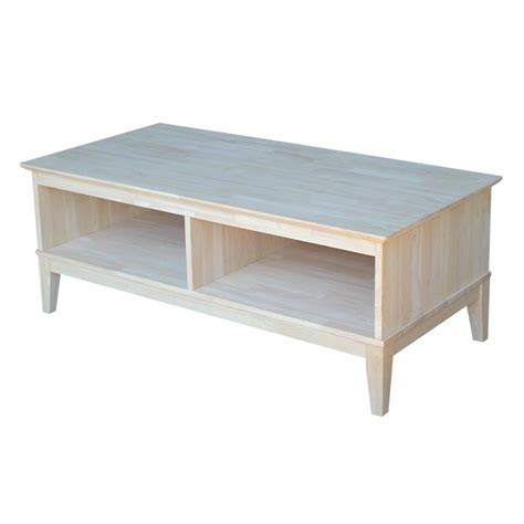 Unfinished Coffee Table International Concepts Shaker Unfinished Divided Coffee Table Ot 9c2 The Home Depot
