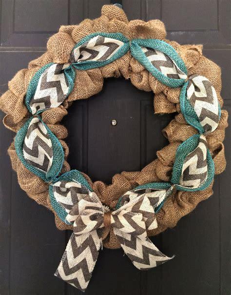 burlap wreath everyday wreath chevron wreath front door