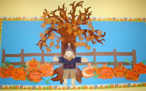 fall bulletin board decorations falling into fall pumpkins fall leaves bulletin board idea