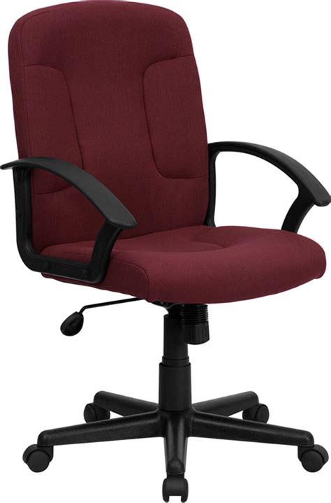 burgundy swivel office chair flash furniture mid back burgundy fabric executive swivel