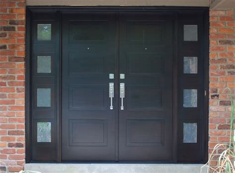contemporary double front door modern front entry doors in african mahogany chad womack