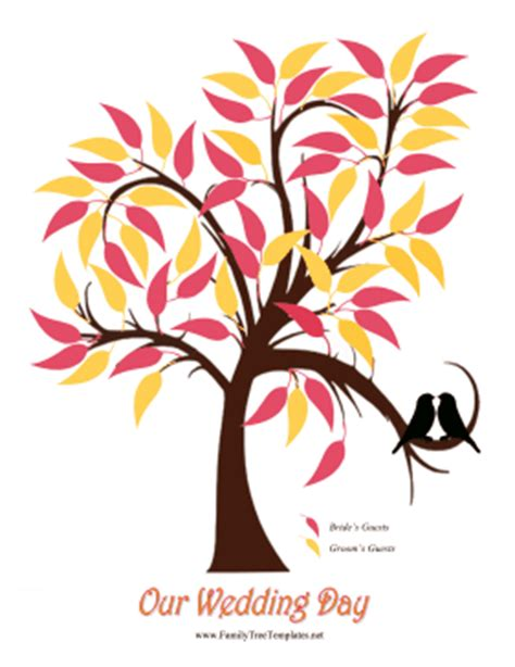 wedding leaves tree template