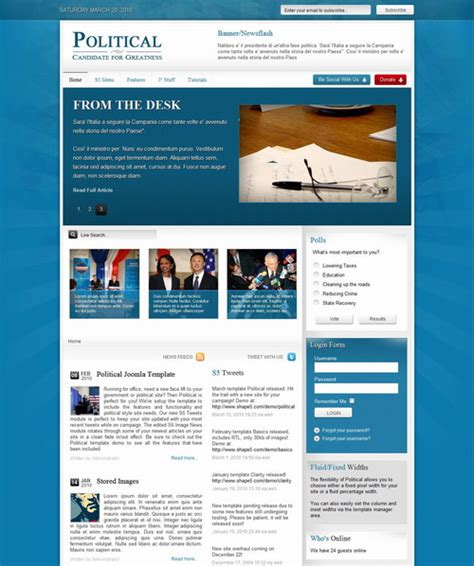 political march 2010 joomla club template 187 scriptmafia