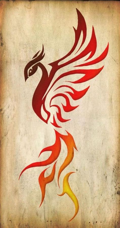 design fire meaning the rising phoenix bird symbolizes the ability to rise