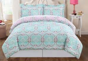 mint blue bedding boutique geometric teal green gray pink king