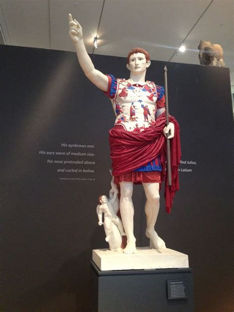 greek  roman statues    painted heres augustus   colours restored