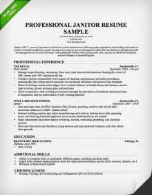 janitor resume sle template learnhowtoloseweight net