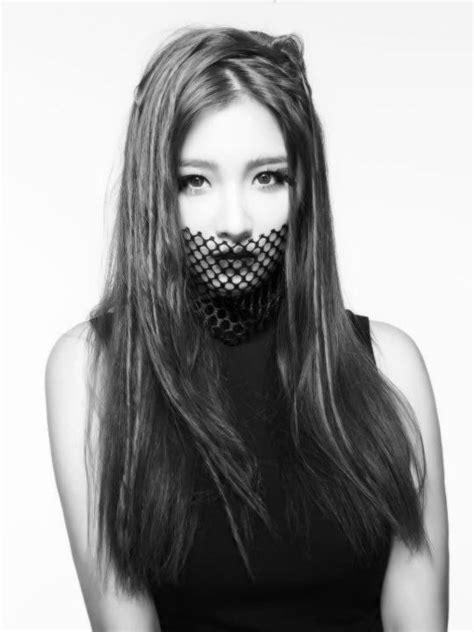 hyuna tattoo cross jihyun leader 4minute photoshoot crazy blackandwhite