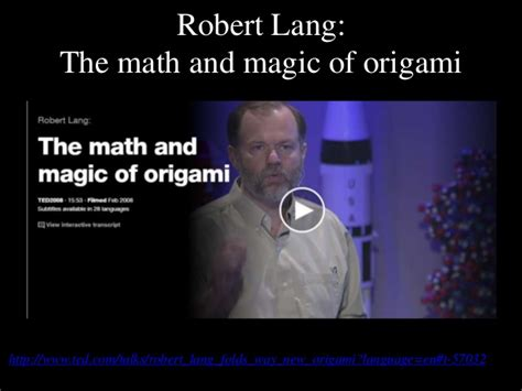 The Math And Magic Of Origami - of origami