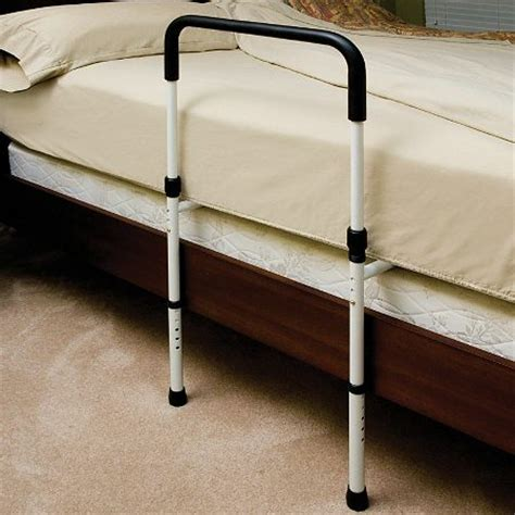 bed railings essential medical hand bed rail with floor support walgreens