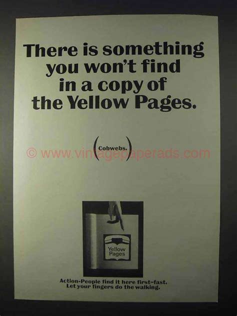 Yellow Pages Find 1966 Yellow Pages Ad Something You Won T Find