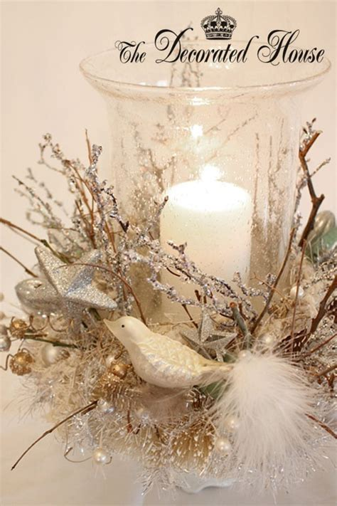 white silver christmas centerpiece christmas 2012