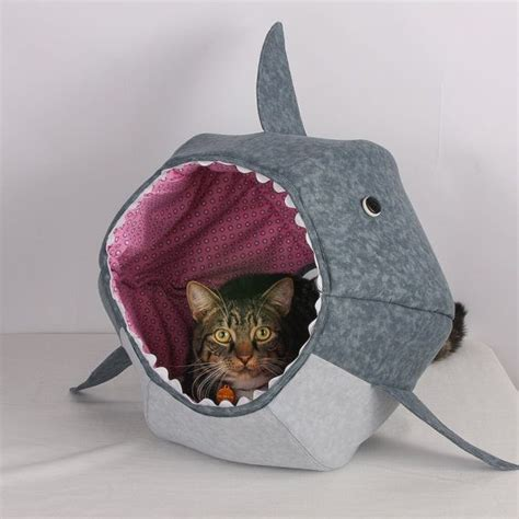 shark bed for cats great white shark cat ball cat bed a funny pet bed for