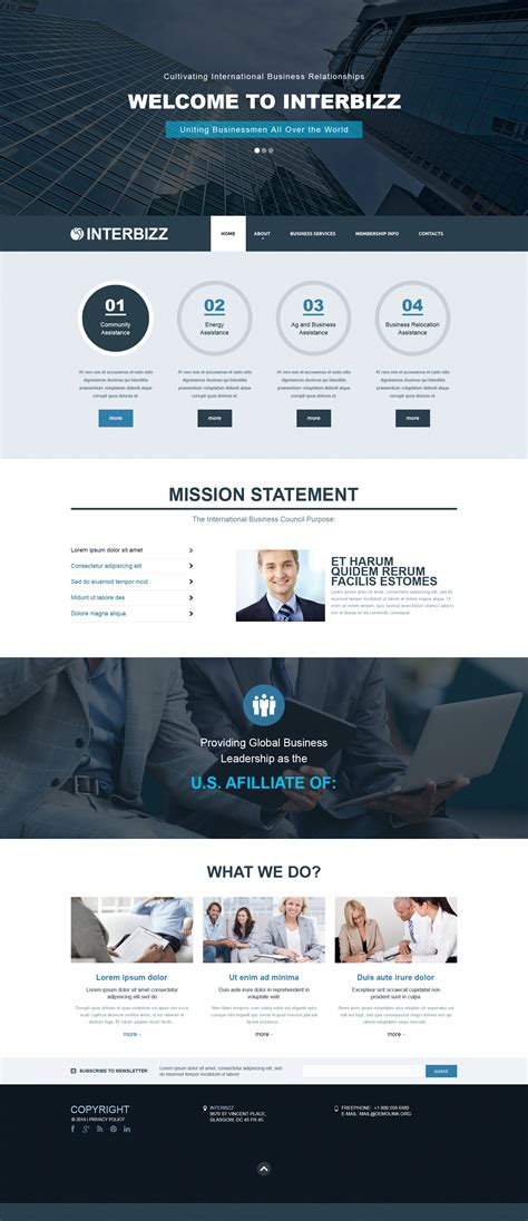 responsive templates for business website business responsive website template 50636