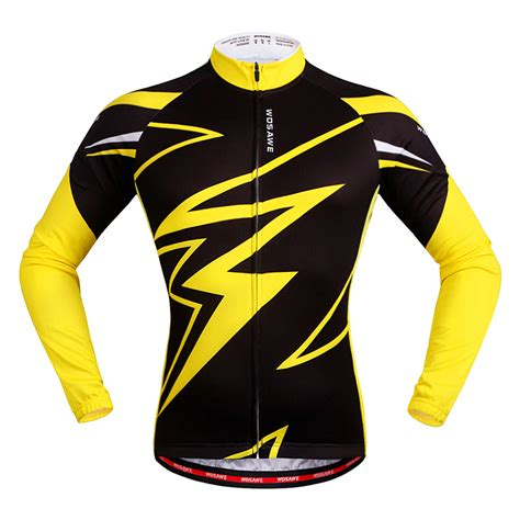 jersey pattern design 2015 autumn men bicycle jersey long sleeve black and