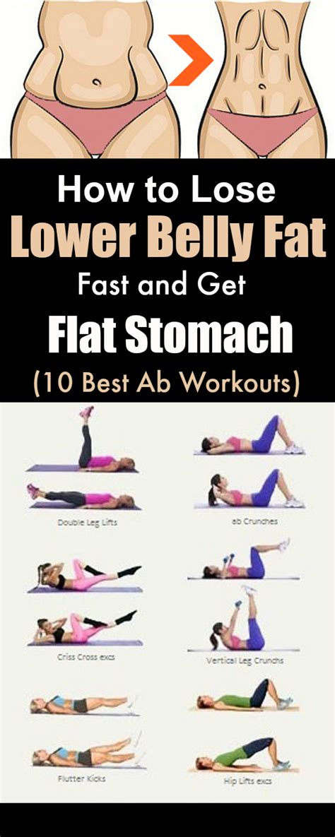 how lose lower belly fast and get flat stomach at home 10 best ab workouts get rid of