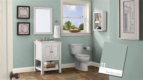 bathroom paint colours ideas behr smokey slate bathroom for the home