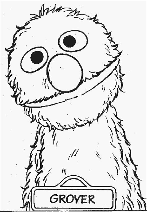 grover free printable sesame street coloring pages