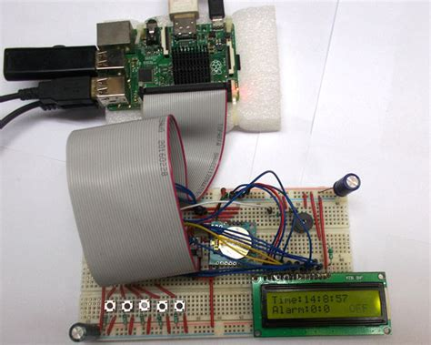 raspberry pi alarm clock using rtc module ds1307