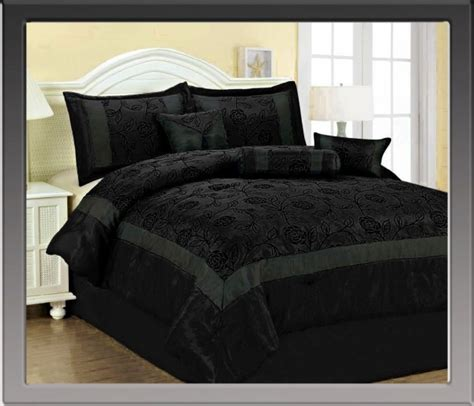 all black bedding black on black rose bedding for the home pinterest