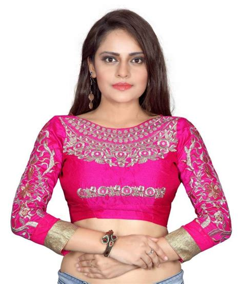 Jedar Blouse 2 N1 designer pink cotton blouses buy