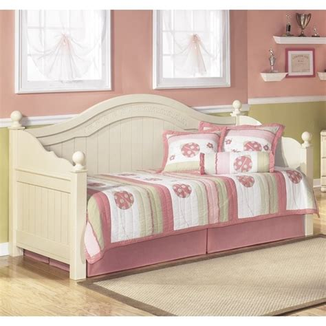 cream and wood bedroom furniture ashley furniture cottage retreat wood daybed in cream
