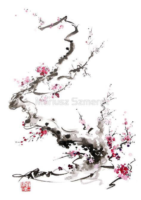 Blossom Tree Wall Stickers quot sakura cherry blossom pink and red flowers tree