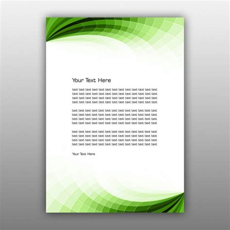 download layout buletin green abstract brochure design psd file free download