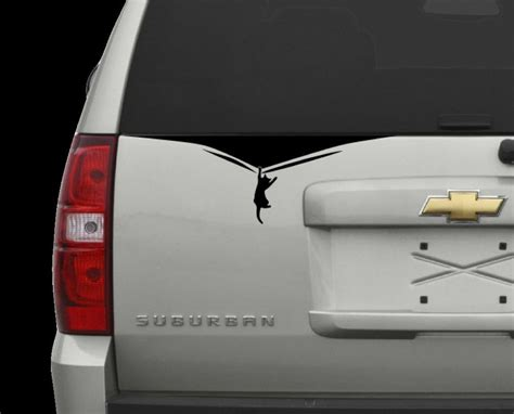 cat holding on edge vinyl decal window sticker car van