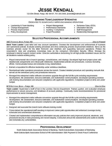 Bank Teller Description For Resume
