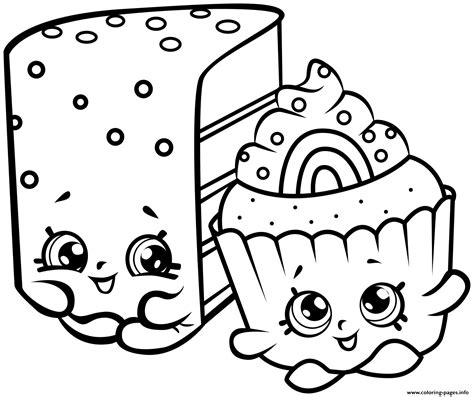 shopkins cake coloring pages print cute shopkins cakes coloring pages bv pinterest
